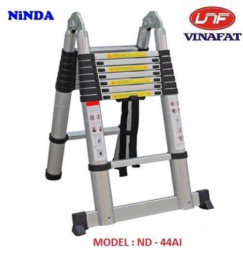 Thang nhôm rút gọn chữ A Ninda ND-44AI