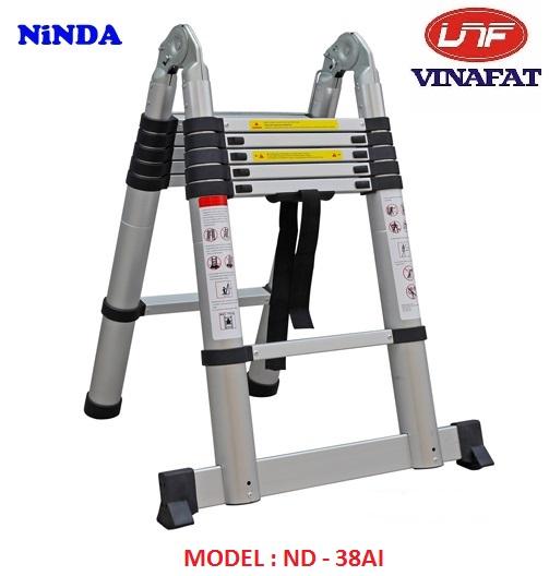 Thang nhôm rút gọn chữ A Ninda ND-38AI