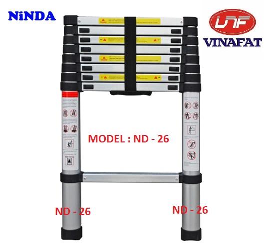 Thang nhôm rút gọn Ninda ND-26