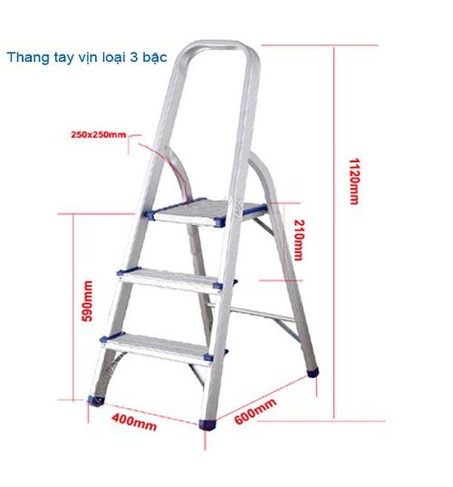 Thang nhôm ghế 3 bậc
